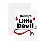 Daddy's Little Devil Greeting Cards (Pk of 20)
