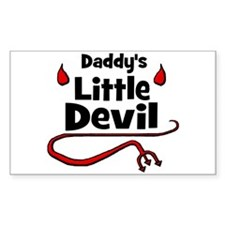 Daddy's Little Devil Rectangle Decal
