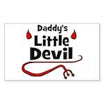 Daddy's Little Devil Rectangle Sticker
