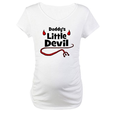 Daddy's Little Devil Maternity T-Shirt