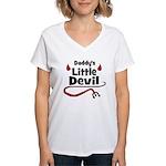 Daddy's Little Devil Women's V-Neck T-Shirt
