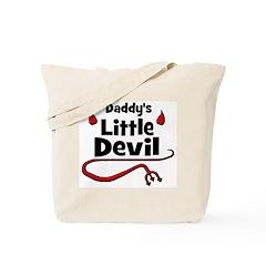 Daddy's Little Devil Tote Bag