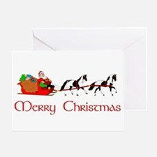 paint_sleigh Greeting Cards