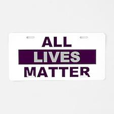 All Lives Matter Aluminum License Plate