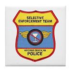 VA Beach Selective Enforcemen Tile Coaster