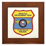 VA Beach Selective Enforcemen Framed Tile
