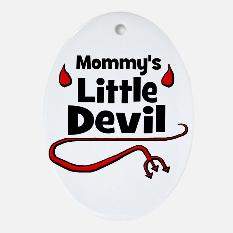 Mommy's Little Devil Oval Ornament