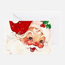 Vintage Santa 4 Greeting Cards