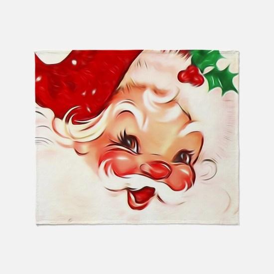 Vintage Santa 4 Throw Blanket