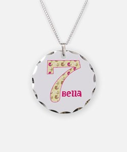 7th Birthday Pesonalized Necklace Circle Charm