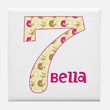 7th Birthday Pesonalized Tile Coaster