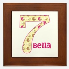 7th Birthday Pesonalized Framed Tile