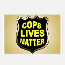 COPS LIVES MATTER Postcards (Package of 8)