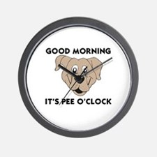 DOGS - GOOD MORNING IT'S PEE O'CLOCK Wall Clock