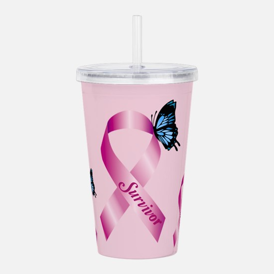 Breast Cancer Acrylic Double-wall Tumbler