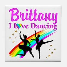 ELEGANT DANCER Tile Coaster