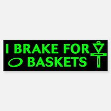3-brake 4 bask grn on blk Bumper Bumper Bumper Sticker
