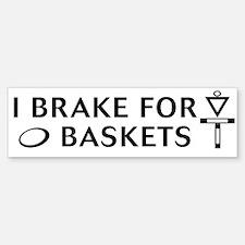 brake 4 bask blk on wt Bumper Bumper Bumper Sticker