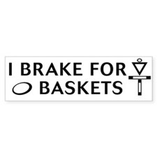 brake 4 bask blk on wt Bumper Bumper Sticker