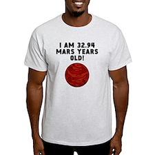 62nd Birthday Mars Years T-Shirt