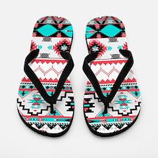 Aztec Pattern Flip Flops