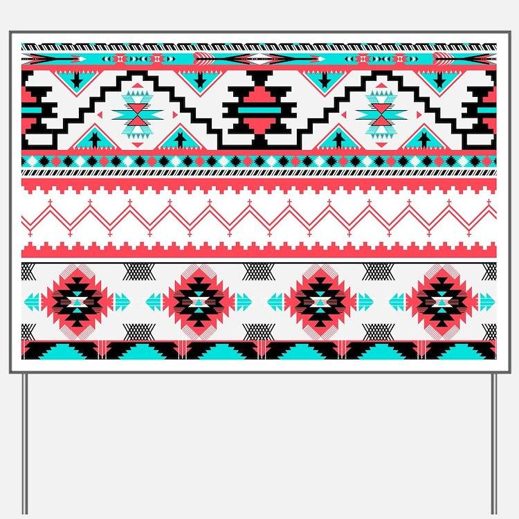 Aztec Pattern Yard Sign