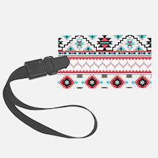 Aztec Pattern Luggage Tag
