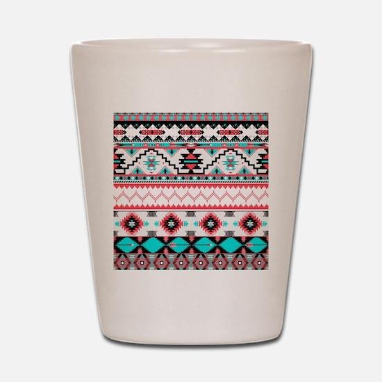 Aztec Pattern Shot Glass