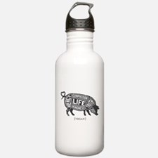 Pig-Gray.png Water Bottle