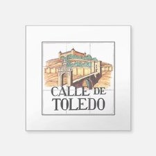 "Cute Toledo spain Square Sticker 3"" x 3"""