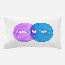Mommy Daddy Me Venn Diagram Pillow Case