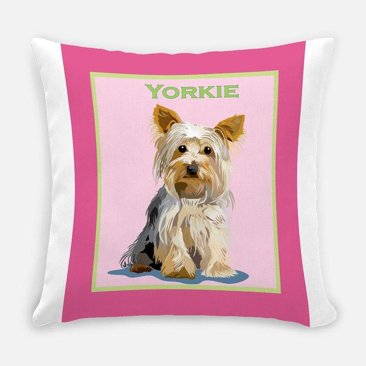 Yorkie Everyday Pillow