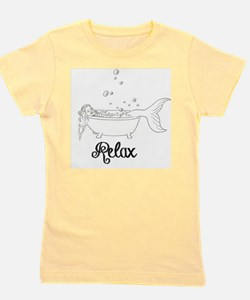 Relaxing Mermaid Girl's Tee