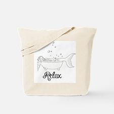Relaxing Mermaid Tote Bag
