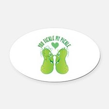 Tickle My Pickle Oval Car Magnet