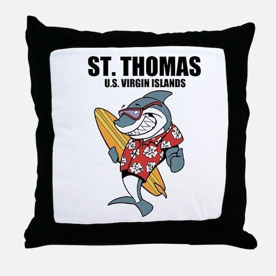 St. Thomas, U.S. Virgin Islands Throw Pillow