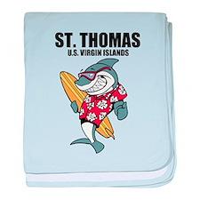 St. Thomas, U.S. Virgin Islands baby blanket