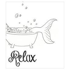Relaxing Mermaid Poster