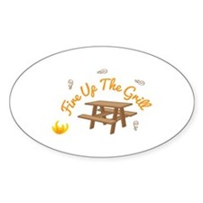 Fire Up Grill Decal