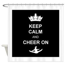 Keep Calm and Cheer Shower Curtain