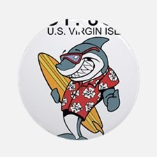 St. John, U.S. Virgin Islands Round Ornament