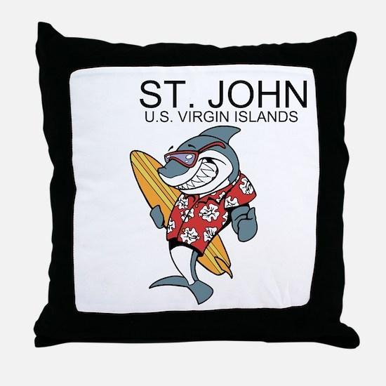 St. John, U.S. Virgin Islands Throw Pillow