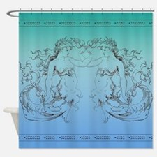 Ancient Mermaids Shower Curtain