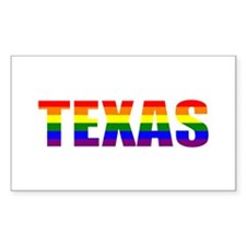 Texas Pride Rectangle Decal