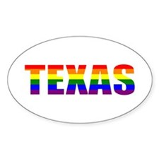 Texas Pride Oval Decal