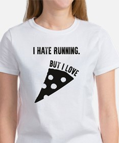I Hate Running but I love Pizza Tee