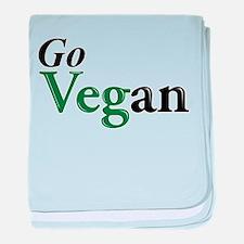 Go Vegan baby blanket