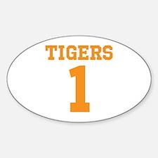 TIGERS 1 Sticker (Oval)