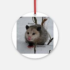 Snow Possum Round Ornament