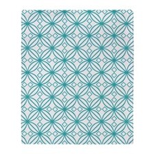 Turquoise Morroccan  Throw Blanket